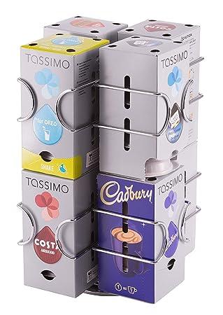 Dispensador de cápsulas tassimo, 64 cápsulas | Base rotativa |Garantía Babavoom: Amazon.es: Hogar