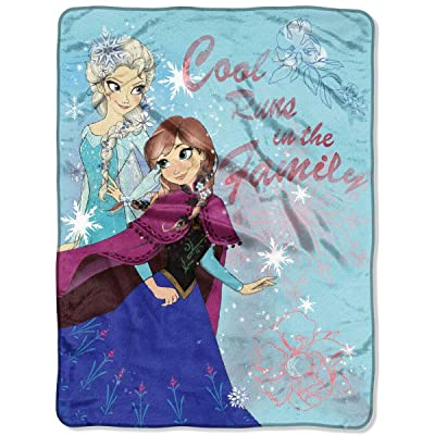 """Disney Frozen """"Cool Runs In The Family"""" Silk Touch Throw, 46 by 60-Inch: Home & Kitchen"""