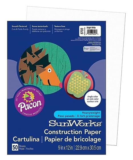 Amazon.com: Pacon SunWorks Papel de construcción, Blanco ...