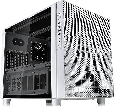 Thermaltake Core X5 Black – Caja de Ordenador (Placa Base ATX chasis apilable de refrigeración líquida Certificado Cubo Casos Tempered Glass Snow: Amazon.es: Informática