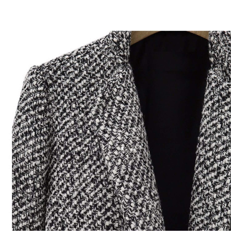 Spring Autumn Womens Wool Coat Long Woolen Coat Single Breasted Slim Type Female Autumn Winter Wool Coat