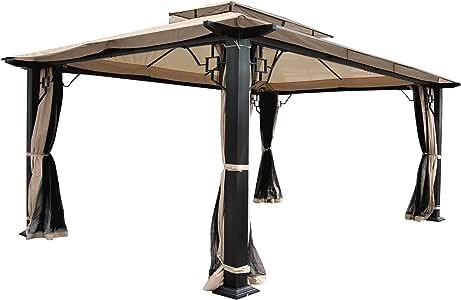 Pergola Mira, Cenador, 12 cm de lujo de aluminio estructura con ...
