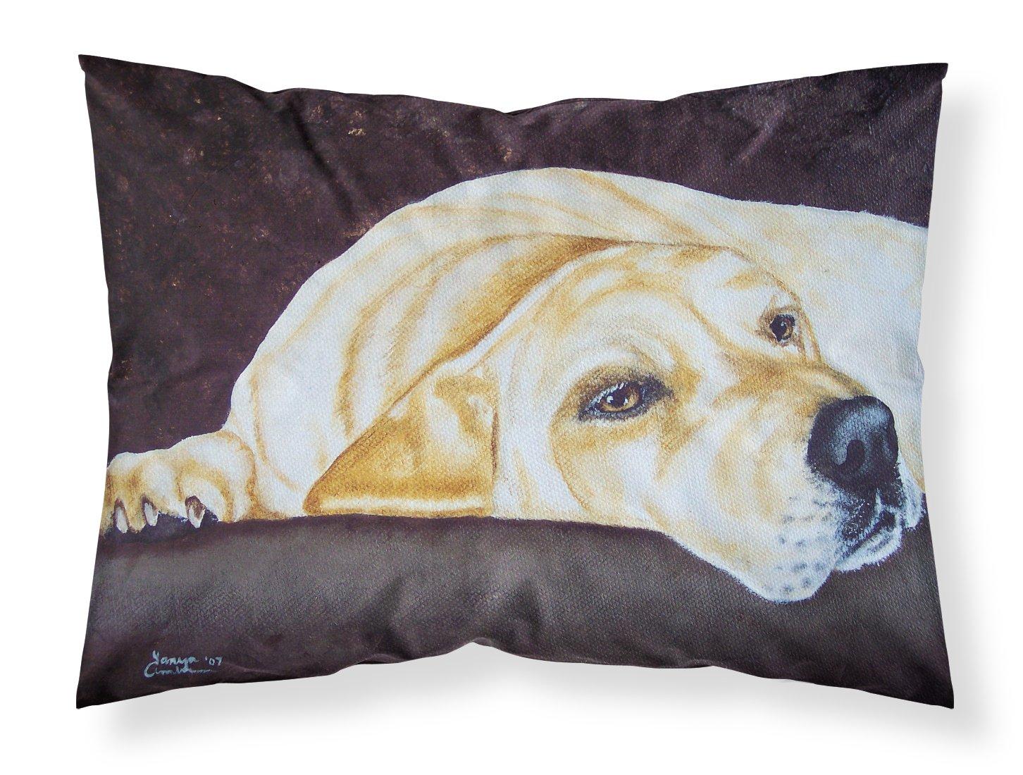 Multicolor Standard Carolines Treasures AMB1072PILLOWCASE Naptime Yellow Labrador Fabric Standard Pillowcase