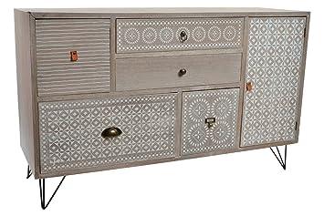 Credenza Buffet Moderna : Disok mobile buffet legno credenza salotto pranzo. colore grigio