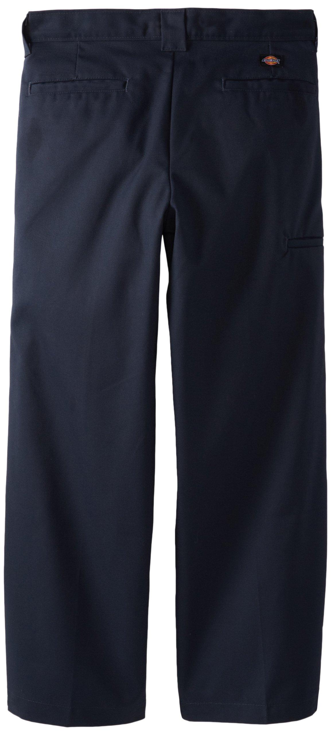 Dickies Big Boys' Flex Waist Double Knee Pant With Extra Pocket, Dark Navy, 18 Husky by Dickies (Image #2)