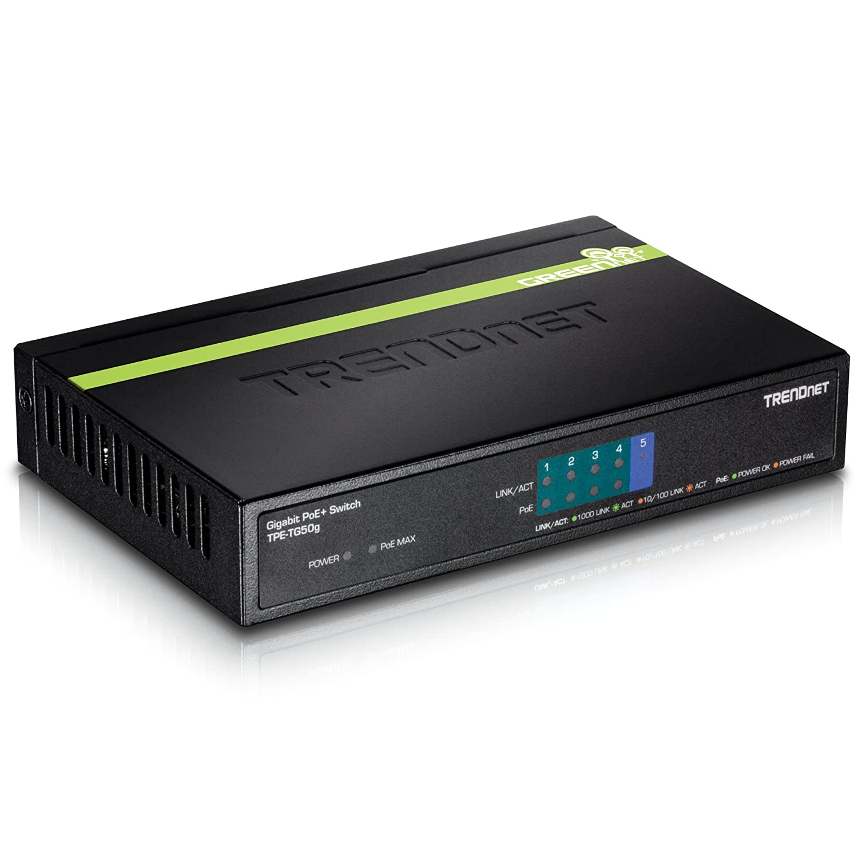 TRENDnet 8-Port Gigabit PoE+ and 2-Port Gigabit Ethernet Web Smart Switch with 2 Shared SFP Slots, Rack Mountable, TPE-1020WS Trendnet - Business Switches & Hubs