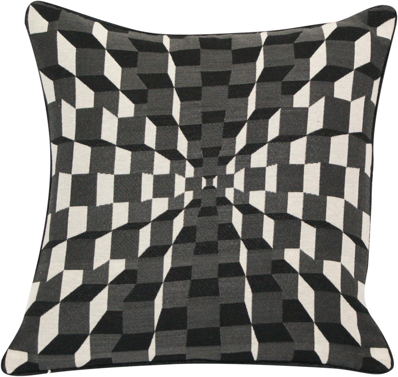 Urban Loft By Westex Black 3d Cubes Cushion 20 X 20 Home Kitchen