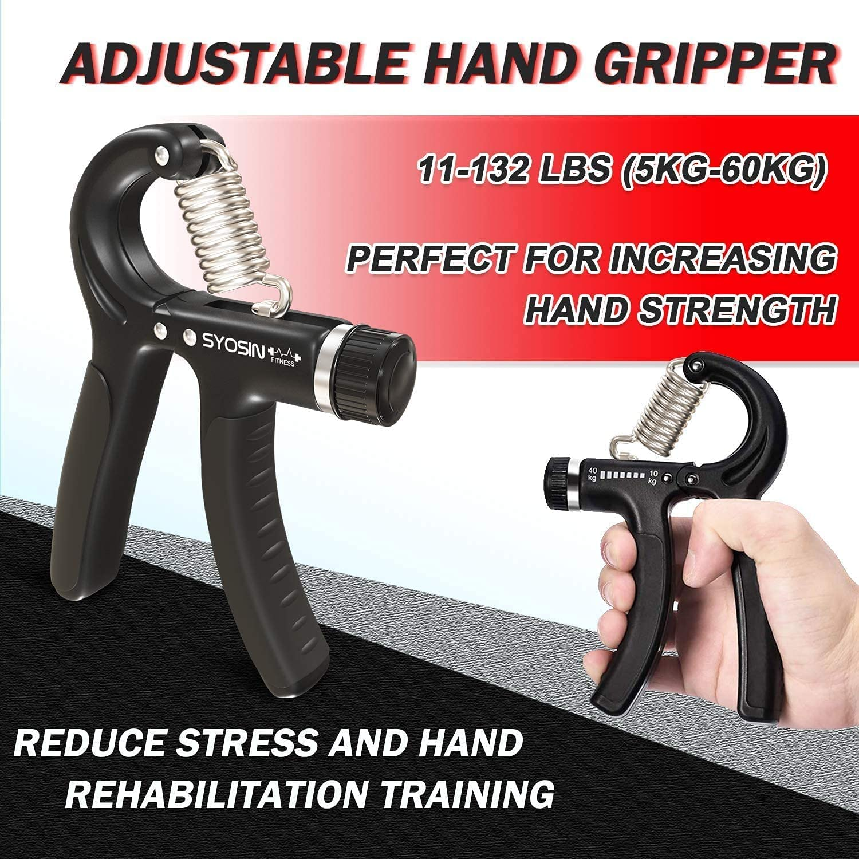 Hand Grip Finger Strengthener Workout Kit Adjustable For Athletes Set Q0M6