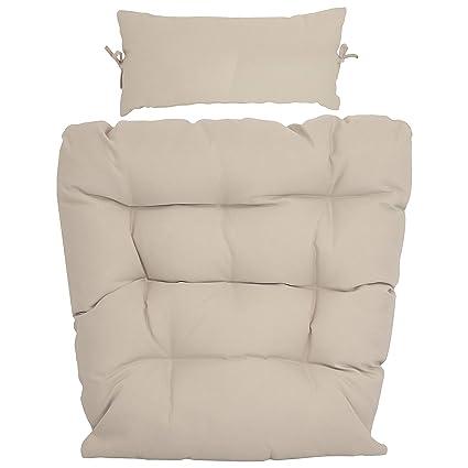 Amazon.com: Sunnydaze - Cojín de repuesto para silla de ...