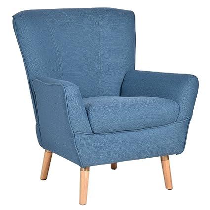 Amazon.com: Lovelabel Accent Sofa Arm Chair Upholstered ...