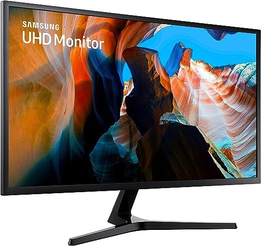 Samsung Monitor U32J590 Monitor UHD/4K 32'' per Console Gaming con Base a Doppio Snodo, 3840x2160, 60 hz, 4 ms, HDMI, 1.07 Milioni di Colori Supportati