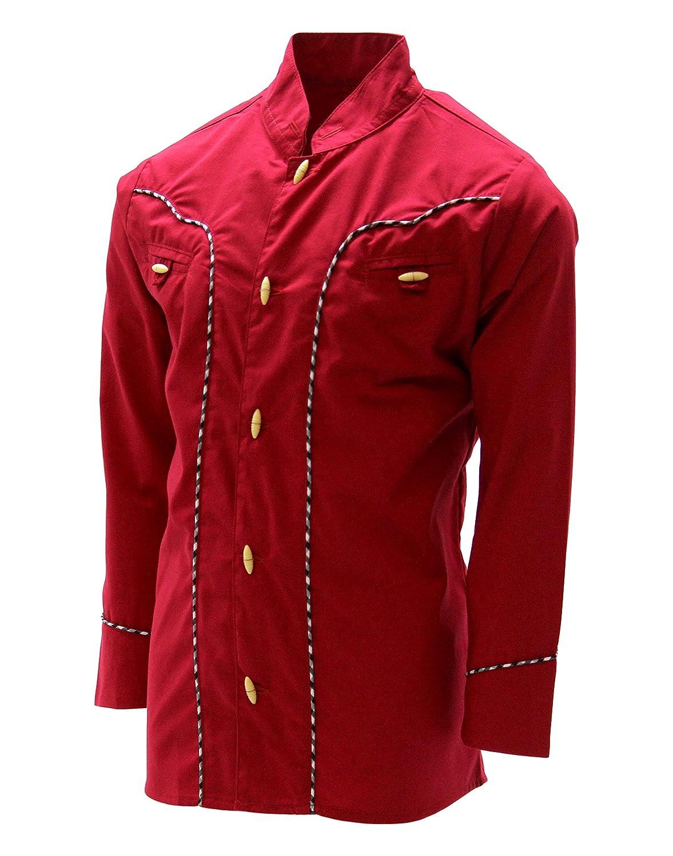 El General Boys Charro Shirt Western Wear Camisa Charra de Ni/ño Color Red