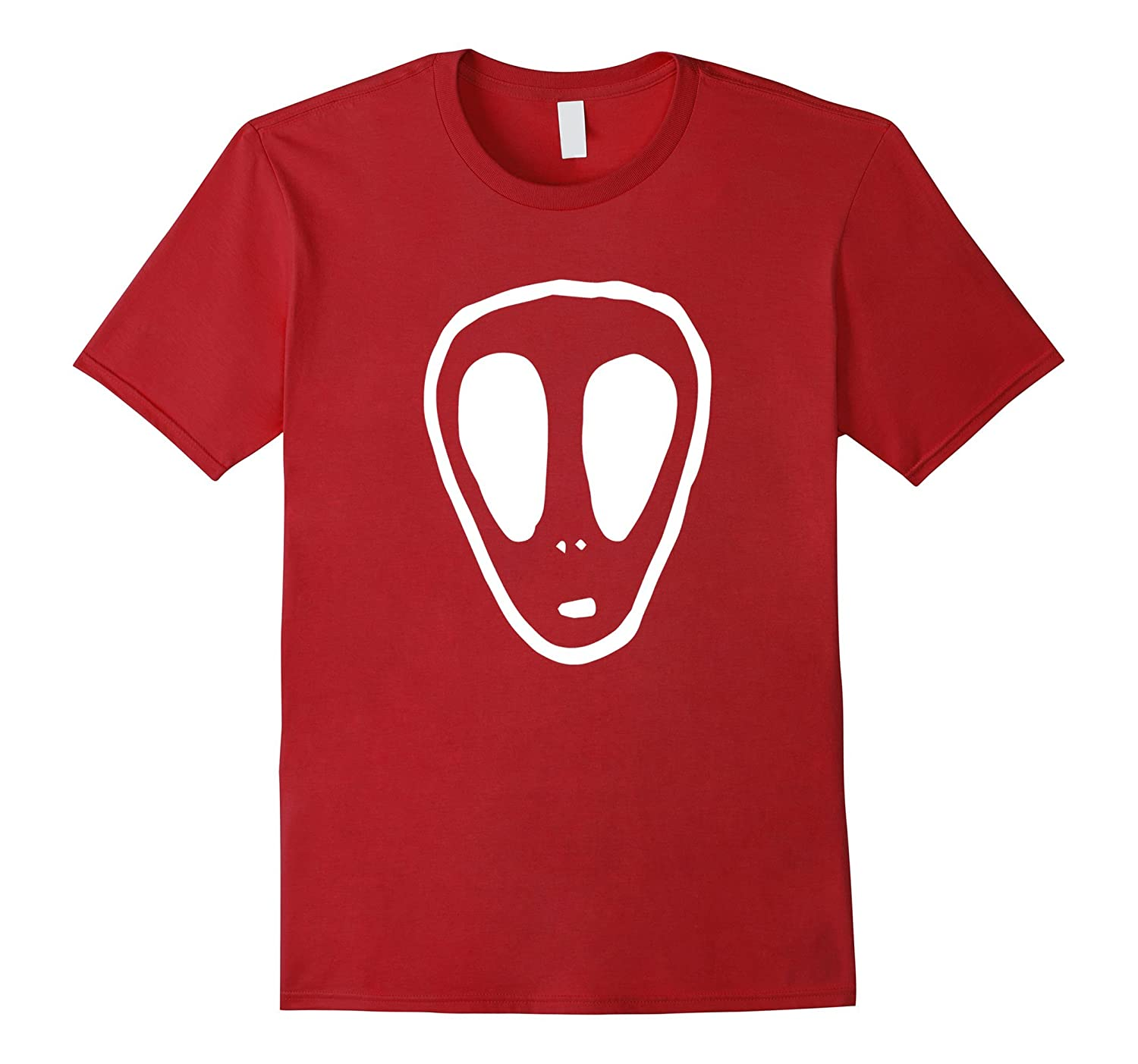 UFO Alien Face Mystery Horror T-Shirt-FL