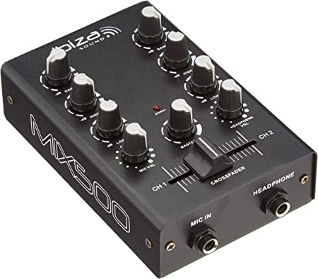 Ibiza MIX500 - Mesa de mezclas de 2 canales