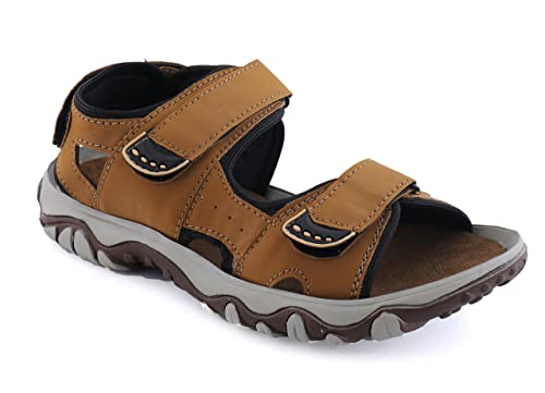 a153da002c56 Austin Justin Wood Man Land Becban Men s Tan Faux Leather Sandals And  Floaters  Buy Online at Low Prices in India - Amazon.in