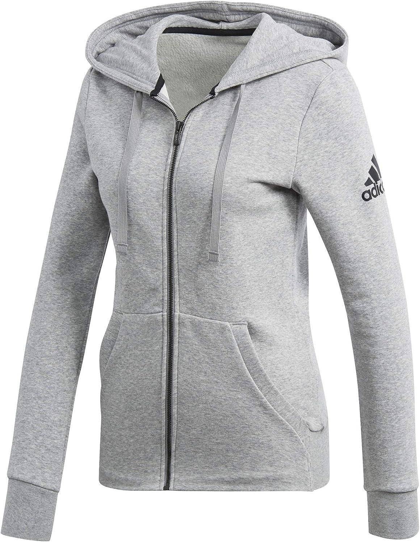 adidas Damen Kapuzenjacke Essentials Solid Grau