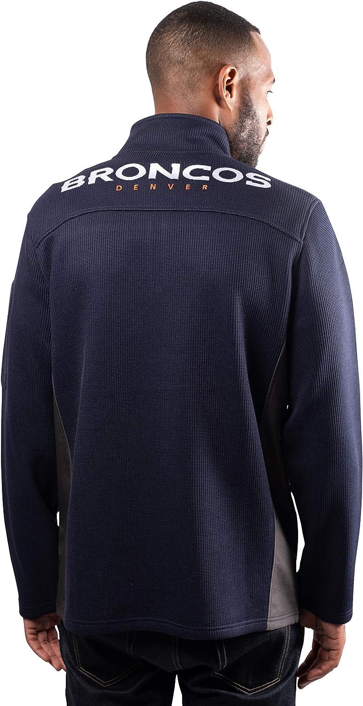 Ultra Game NFL Mens Quarter-Zip Fleece Pullover Sweatshirt with Zipper Pockets