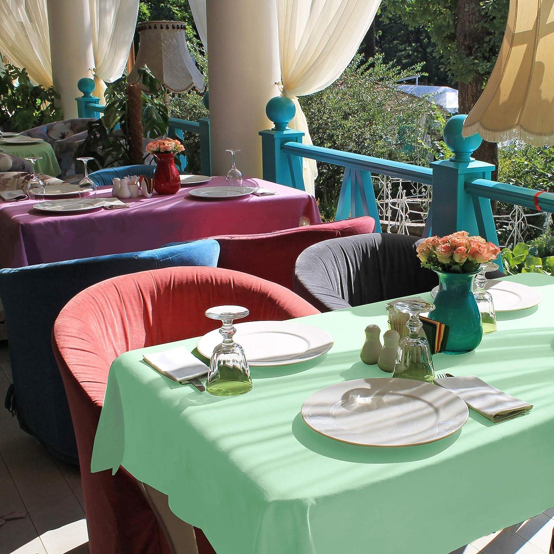 Nappe D/îner pour Le Mariage F/ête Restaurant Caf/é Beige, 135x135 cm VEEYOO Nappe Carr/ée Nappe de Table 100/% Polyester pour Table Int/érieure et Ext/érieure
