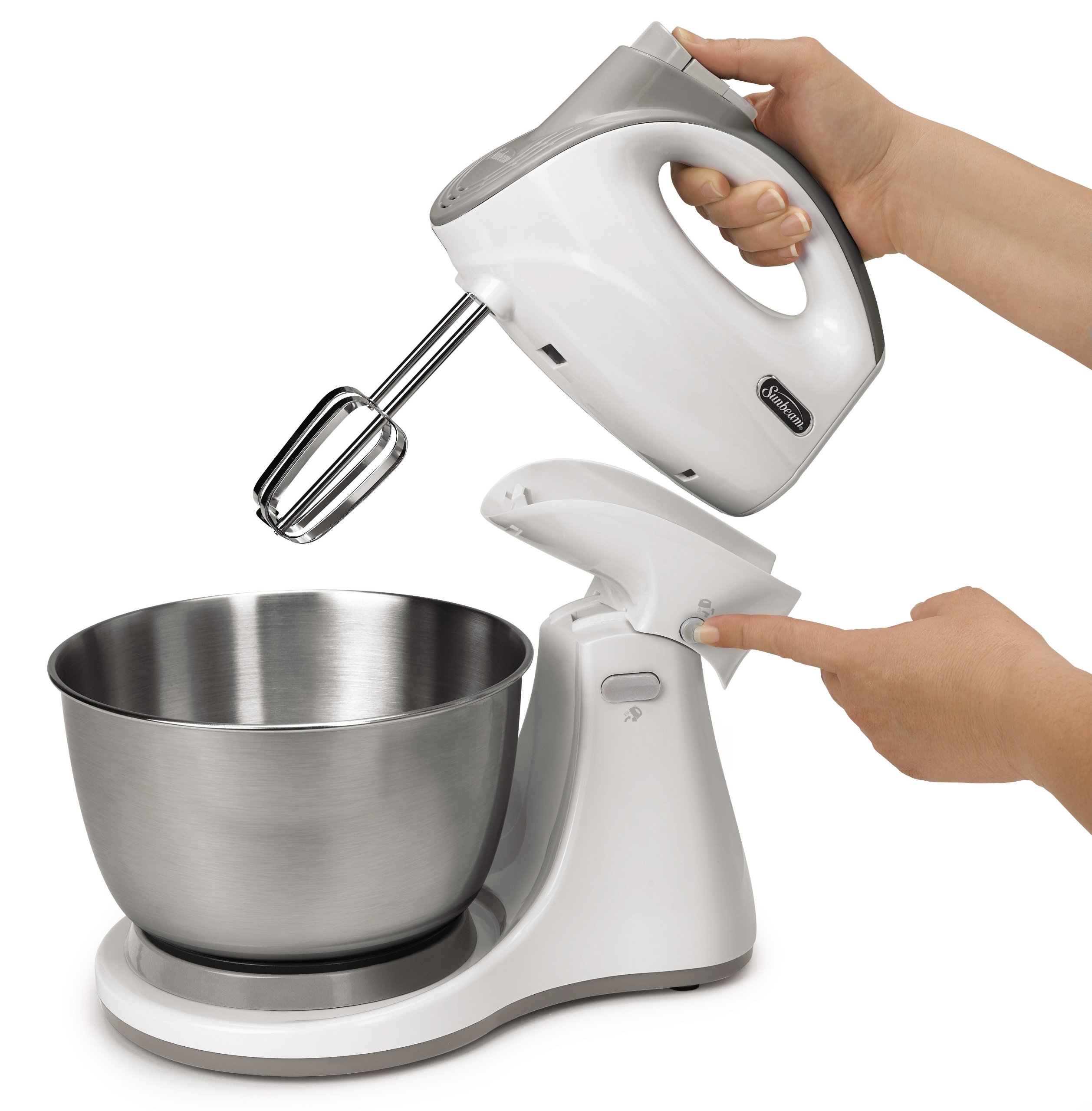Sunbeam FPSBHS0301 Mixmaster Dual Function Hand and Stand Mixer, 250 W, 5 Speed, White by Sunbeam