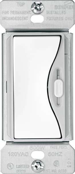 Cooper Wiring Devices 9530WS Aspire Slide Dimmer with Preset White Satin  sc 1 st  Amazon.ca : cooper wiring devices canada - yogabreezes.com