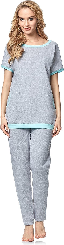 Italian Fashion IF Pijama Camiseta y Pantalones Mujer 82R3 0227