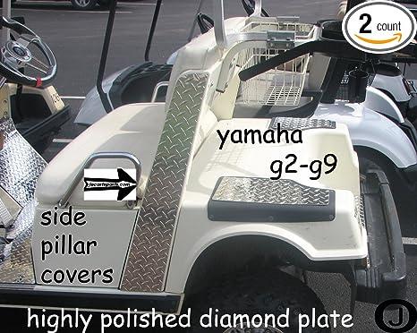 Amazon.com : Yamaha G2/G9 Golf Cart Diamond Plate SIDE PILLAR COVERS on yamaha golf cart models, yamaha golf cars, yamaha electric golf cart, yamaha golf cart repair manual, yamaha g29 golf cart, yamaha g11 golf cart, 2000 yamaha golf cart, 1995 yamaha golf cart, yamaha golf cart enclosures, yamaha g14 golf cart, identify yamaha golf cart, yamaha golf cart specifications, yamaha golf cart serial number, yamaha g8 golf cart, yamaha g4 golf cart, yamaha gas golf cart, yamaha g7 golf cart, yamaha golf cart light kit, yamaha golf cart wiring diagram, yamaha g22 golf cart,