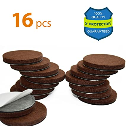 X PROTECTOR Premium 16 THICK 1/4u201d HEAVY DUTY Felt Furniture Pads 2