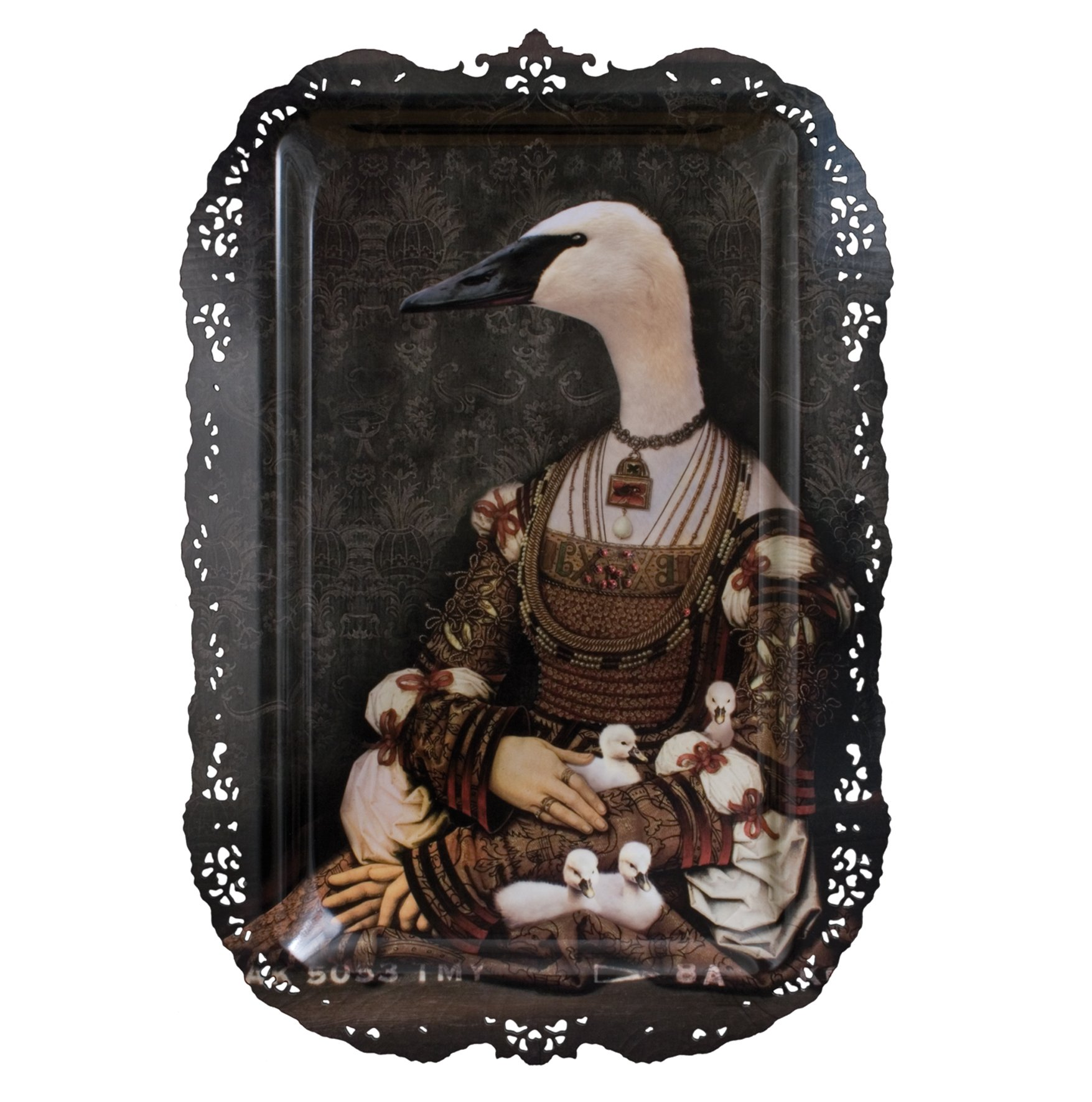 Bianca - Galerie De Portraits - Le grand theatre - Surreal Wall Tray Art Masterwork by iBride