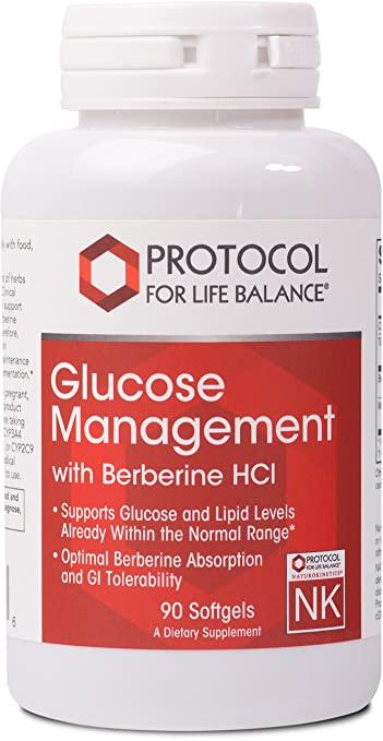 Glucose Management - with Berberine HCI by Protocol For Life Balance