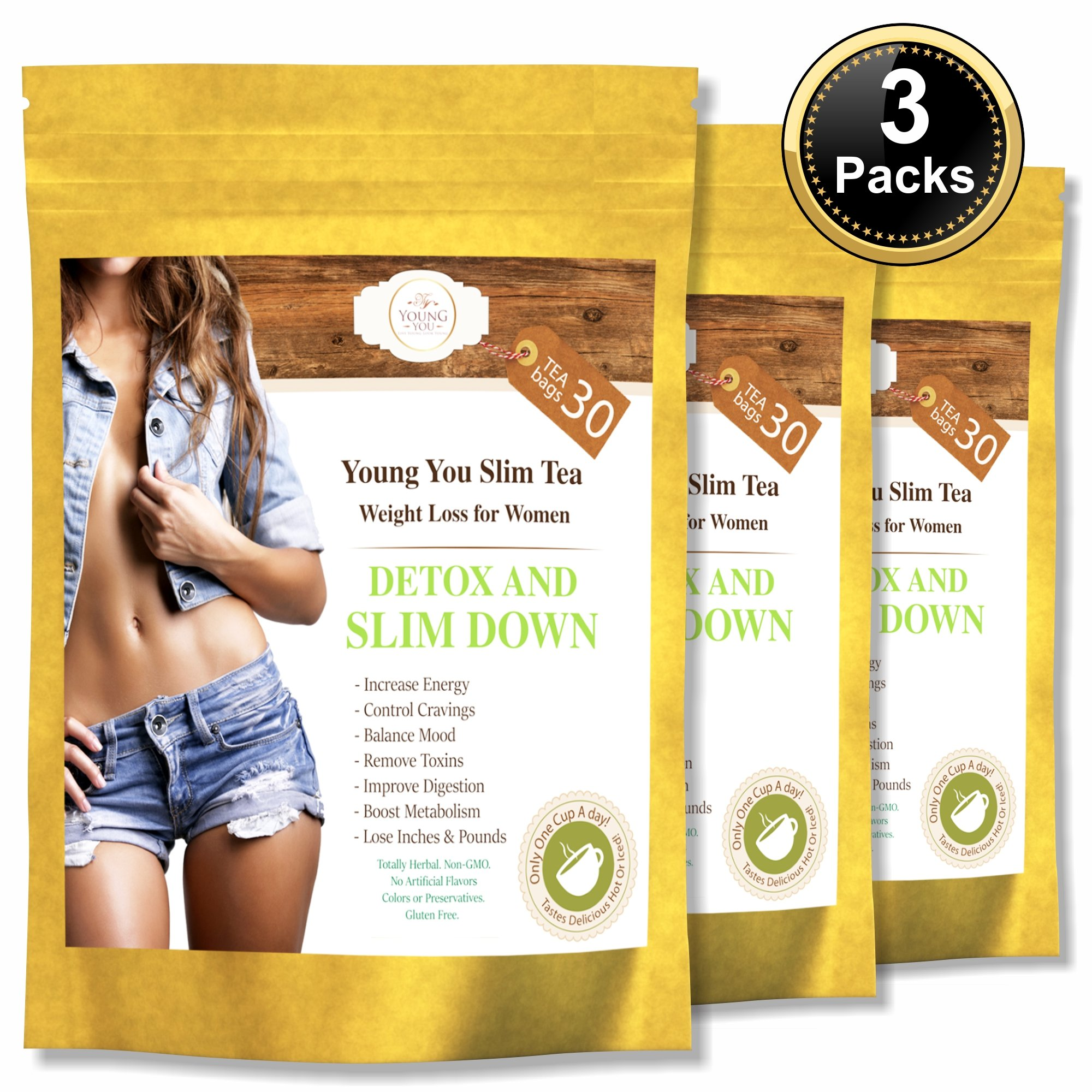 15 Day Detox Tea, Weight Loss Tea - Natural Appetite Suppressant- Diet Tea for Cleanse and Weight Loss by YoungYou Organix