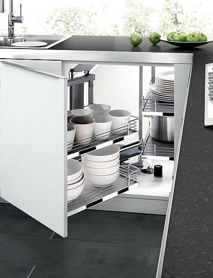 Ciegos esquina mueble de cocina extraíble Soporte para pasteles (2 ...
