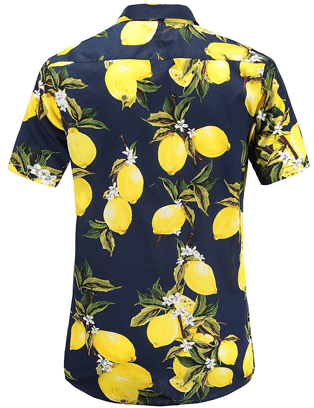Homme Hawaienne Casual Ananas Manches Été Chemise Courtes Jeetoo shxtQdCr