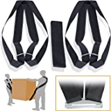 Lifting Straps SET with Shoulder Pads – Weight Carry Harness – 2 Person Dolly Belts Furniture Moving -Weight Lifting Ergonomic Tool for Straight Position and NO Back Pain - Heavy Duty System - ERGOGO