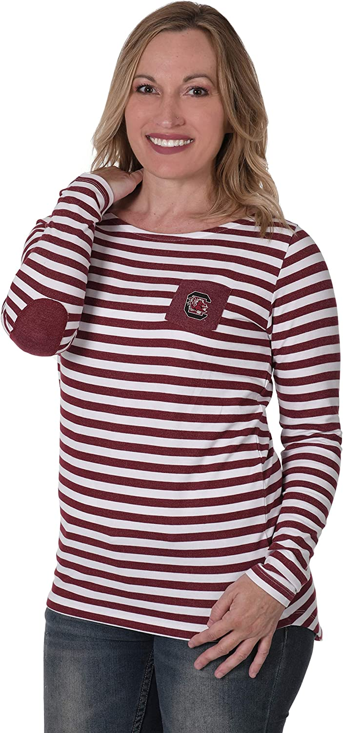 UG Apparel NCAA Womens Elbow Patch French Terry Top