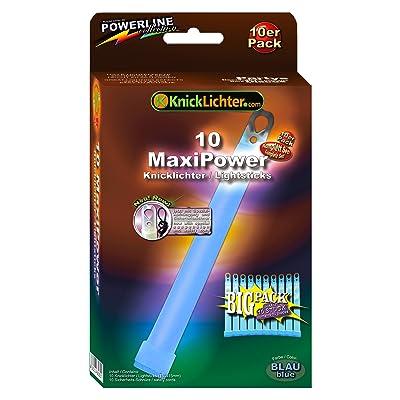 KnickLichter.com 10 Bâtons lumineux fluorescents BLEUS 150 x 15 mm