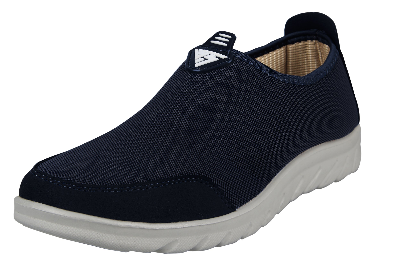 iLoveSIA Men's Comfort Walking Slip-on Casual Loafer Dark Blue US Size 12