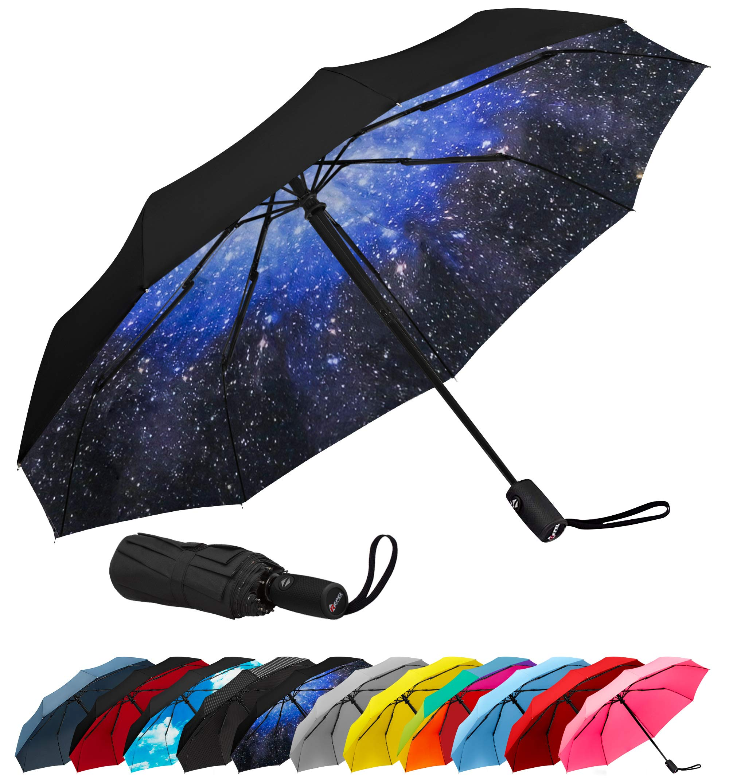 Repel Windproof Travel Umbrella with Teflon Coating (Starry Night)