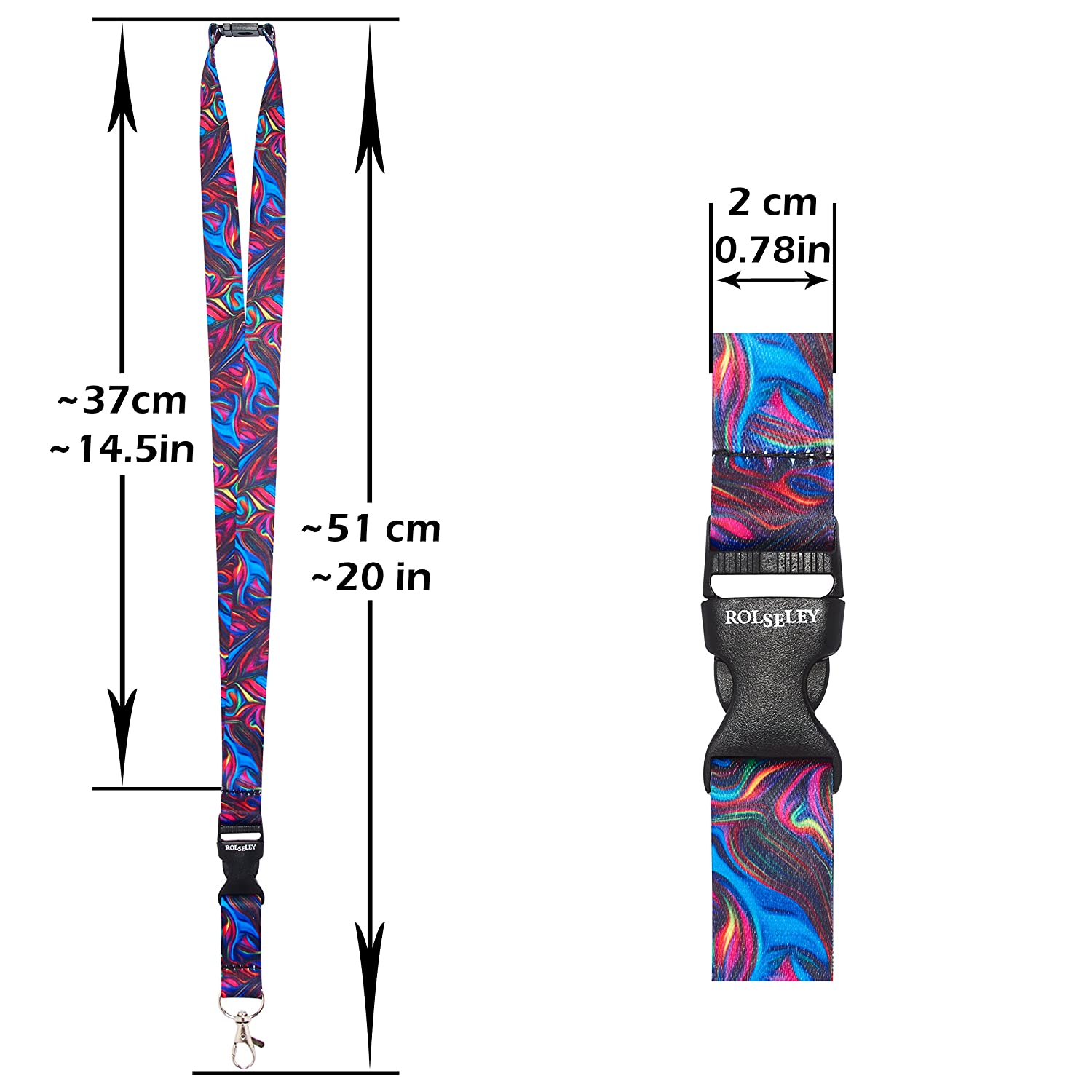 cordino da collo con diversi motivi e clip in metallo Nurse//Doctor Rolseley Lanyard