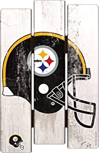 "NFL Pittsburgh Steelers Wood Fence Sign, 11"" x 17"""