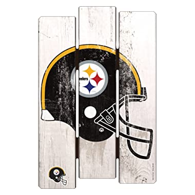 NFL Pittsburgh Steelers Wood Fence Sign, 11  x 17