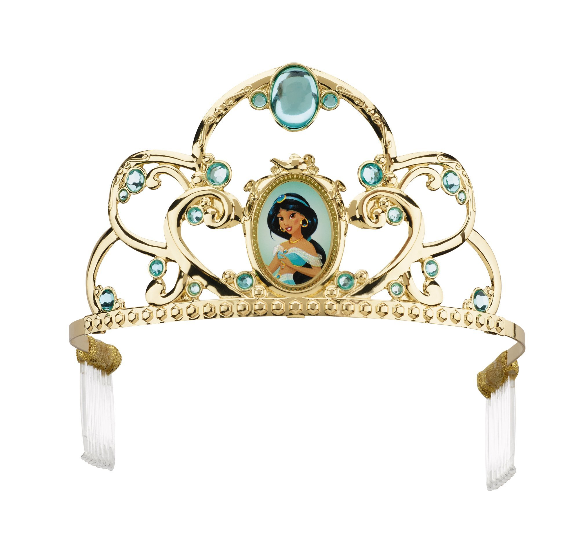 Jasmine Deluxe Disney Princess Aladdin Tiara, One Size Child by Disguise