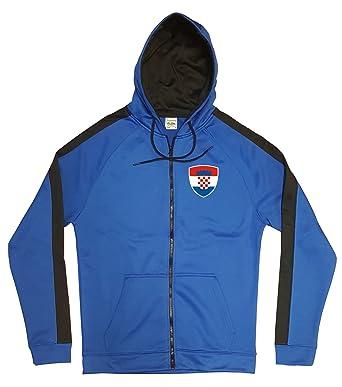 uk availability 3630d f7932 Kroatien Jacke Sweater Royal GO Hrvatska Trikot Look Zip ...