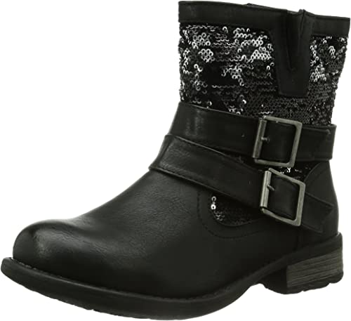 rieker Damen Winterstiefel Schwarz Schuhe