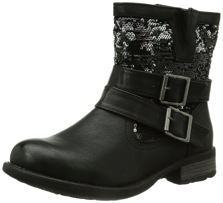 Noir (Noir Combiné) Rieker 97263 00, Bottes femme