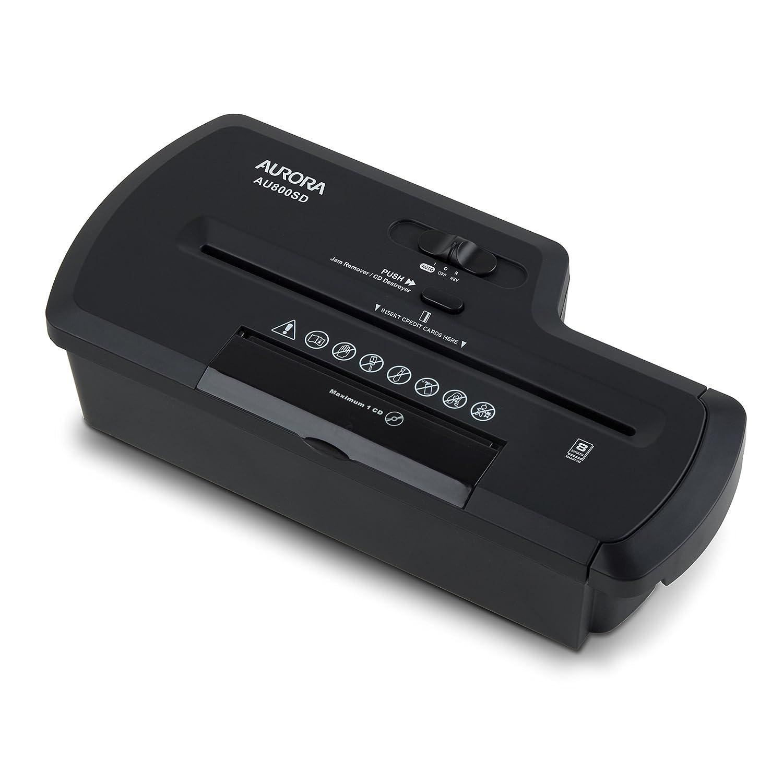 Aurora AU800SD Professional Strip Cut Paper Shredder /CD / Credit Card Shredder without Wastebaske