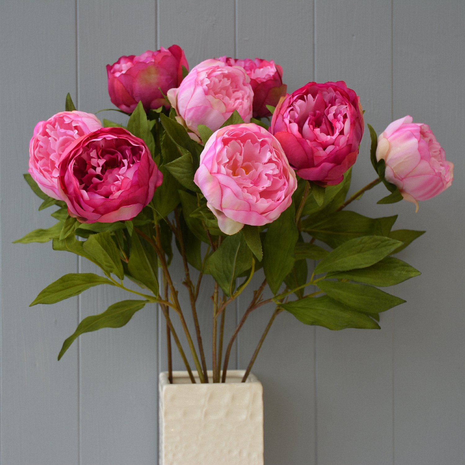 Eight stems of artificial silk pink peonies amazon kitchen eight stems of artificial silk pink peonies amazon kitchen home mightylinksfo Image collections