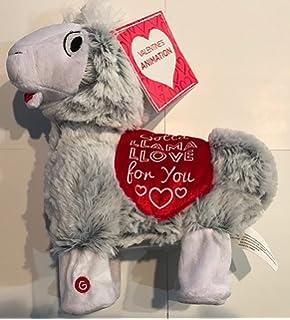 Valentines Dancing Singing Stuffed Llama
