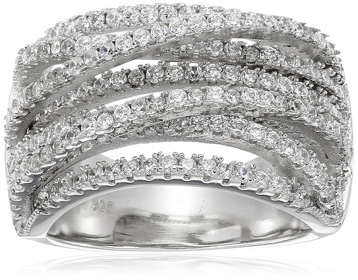 Charles Winston Sterling Silver, Cubic Zirconia Multi Band Ring (1.80 cttw) 1.80 ct. tw Size 8 Charles J. Winston Inc.