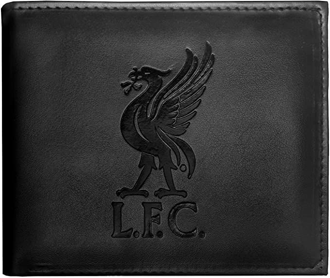 Liverpool FC Official Football Gift Embossed Crest Wallet Black