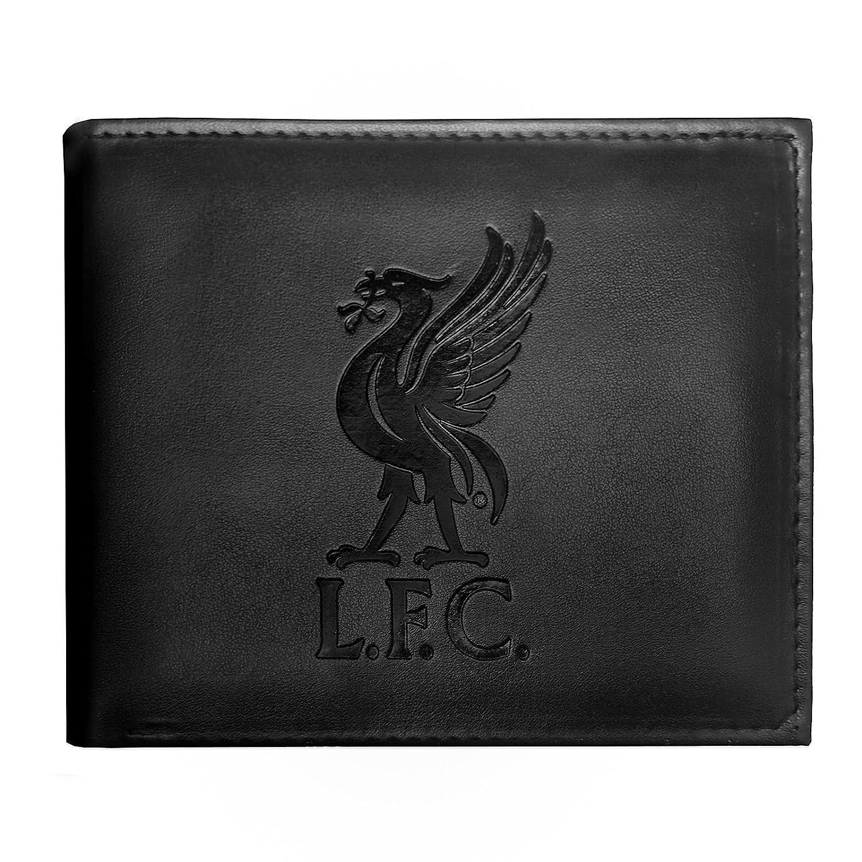 Negro Liverpool FC Cartera oficial con el escudo grabado
